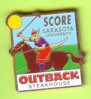 Pin's Outback Steakhouse Kangourou Polo (Cheval) - 7BB11 - Badges