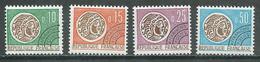 France Préoblitérés YT N°123-124-126-128 Monnaie Gauloise Neuf ** - Préoblitérés