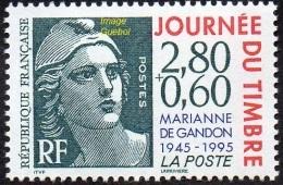 France N° 2933  ** Journée Du Timbre 1995 - Cinquantenaire De La Marianne De Gandon - Neufs