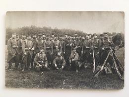 Foto AK Soldats Francaise Uniform Groupe Militaire Regiment 121 Montlucon Photo Breuly Clermont Ferrand - Guerre 1914-18