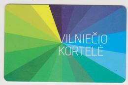 1350(13) VILNIUS Lithuania / Lituanie / Lituania. Rechargeable Card. Carte Rechargeable. Tarjeta Recargable.. - Bus