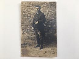 Foto Photo Ak Soldat Militaire Poilu Francais Uniform Regiment 104 Paris Argentan 1914 - Guerre 1914-18