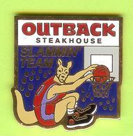 Pin's Outback Steakhouse Kangourou Basketball - 9BB12 - Basketball