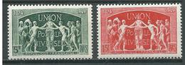 France YT N°850-851 Union Postale Universelle Neuf/charnière * - Neufs