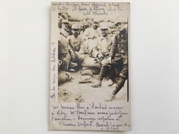 Foto Photo Ak Soldats Francaise Tranchee Mitraileur Post Uniform - Guerre 1914-18
