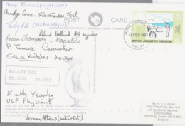 BRITISH ANTARCTIC TERRITORY - 1983- SURVEY SIGNED COVER WITH INCORRECT CANCELLER  SURVEY INSTEAD OF TERRIT - FDC