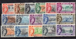 1954 Elizabeth Issue Set 16 Values Used - Bahamas (...-1973)