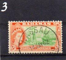 1954 Elizabeth Issue 5/- Used - Bahamas (...-1973)