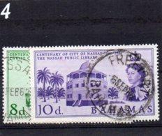 196 Centenary Of Nassau Pair Used - Bahamas (...-1973)