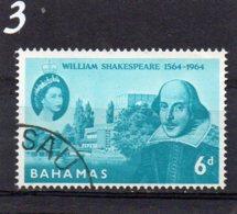 1964 Shakespeare 6d Used - Bahamas (...-1973)