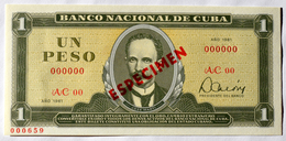 Exelente SPECIMEN Cuba 1981, Un Peso, Gem-UNC. Cuba Revolucionaria - Cuba