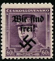 Sudetenland Rumburg Dauerserie 60 Heller Stefanik Mi.Nr. 8  POSTFRISCH Geprüft BRUNEL BPP !! - Occupation 1938-45