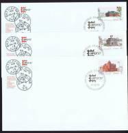 1987    CAPEX 87  Old Post Offices  Sc 1123-5  Singles On 3 FDCs - Omslagen Van De Eerste Dagen (FDC)