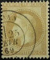 FRANCE Y&T N°28Ba Napoléon 10c Bistre Foncé. Oblitéré - 1862 Napoléon III