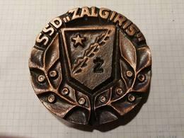 "Lithuania Lietuva, Kaunas, SSD ""Zalgiris"" Sport Club,  Medal 10 Cm - Jetons & Médailles"