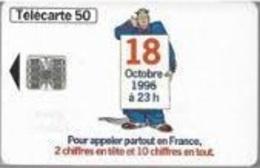 Le 18 Octobre 1996 à 23h - France - 1996 - Télécartes