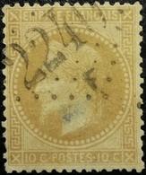 FRANCE Y&T N°28B Napoléon 10c Bistre. Oblitéré Losange GC N°2240 F - 1863-1870 Napoléon III Lauré