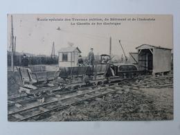 75 PARIS  Carte En état Concours - École Spéciale Des Travaux Publics - Le Chemin De Fer Électrique DEN764 - Enseignement, Ecoles Et Universités