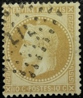 FRANCE Y&T N°28B Napoléon 10c Bistre Foncé. Oblitéré Losange L I L - 1863-1870 Napoléon III Lauré