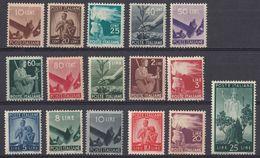 ITALIA -  Lotto Di 16 Valori Nuovi MNH: Yvert 481/488, 490, 491, 493, 495/497, 499 E 500. - 6. 1946-.. Repubblica