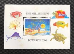 Kiribati Ms Souvenir Sheet The Millennium HS SPECIMEN Turtle Fish CRAB Flag Sea Beach - Kiribati (1979-...)