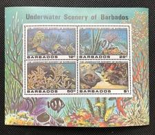 Barbados MS Souvenir Sheet Under Water Scenery FISH Coral Etc MNH - Barbados (1966-...)
