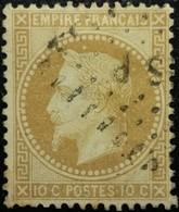 FRANCE Y&T N°28Ac Napoléon 10c Bistre-brun. Oblitéré Losange ?SP - 1863-1870 Napoléon III Lauré