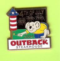 Pin's Outback Steakhouse Koala Fusée Feux D'Artifice 4 Juillet /July - 10Y21 - Animals