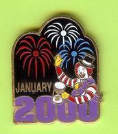 Pin's Mac Do McDonald's Rony /Ronald Feux D'Artifice 2000  - 9BB18 - McDonald's