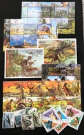 Malawi Iraq San Marino Triangle PreHistoric Animal Dinosaurs Ms Souvenir MNH - Stamps
