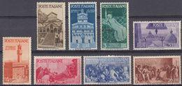 ITALIA -  1946 - Serie Completa Nuova MNH: Yvert 504/511; 8 Valori. - 6. 1946-.. Repubblica