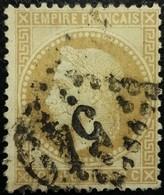 FRANCE Y&T N°28B Napoléon 10c Bistre Foncé. Oblitéré Losange GC N°540 - 1863-1870 Napoléon III Lauré