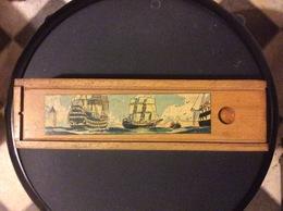 DOUBLE PLUMIER AMCIEN DÉCORS Mer Navires Barque Phare - Autres Collections