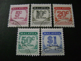 Malaysia 1986 Postage Dues (SG D22-D26) - Used - Malaysia (1964-...)