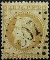 FRANCE Y&T N°28c Napoléon 10c Bistre-brun. Oblitéré Losange GC N°807 - 1863-1870 Napoléon III Lauré