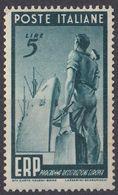 ITALIA -  1949 - Yvert 539 Nuovo Senza Linguella. - 6. 1946-.. Repubblica