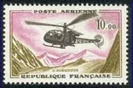 France N° PA 41 ** Poste Aérienne - Hélicoptère Alouette - 1960-.... Neufs