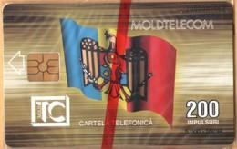 Moldova - MD-MOL-1IS-0004, Moldtelecom Building, 1st Issue, Flag, Buildi, 5.000ex., 9/94, Mint - NSB As Scan - Moldova