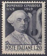 ITALIA - 1949 - Yvert 553 Nuovo MNH. - 6. 1946-.. Repubblica