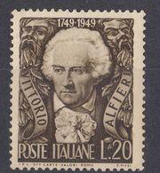 ITALIA - 1949 - Yvert 543 Nuovo. - 6. 1946-.. Repubblica