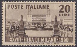 ITALIA - 1950 - Yvert 554 Nuovo. - 6. 1946-.. Repubblica