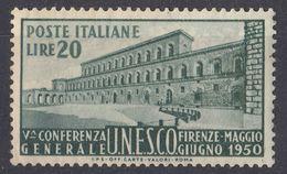 ITALIA - 1950 - Yvert 556 Nuovo MNH. - 1946-60: Neufs