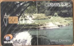Guatemala - GT-TLG-0004, Telgua - Ladatel, Semuc Champey, GEM5 (Red), 30Q, 1999, Unused, Mint - NSB As Scan - Guatemala