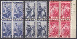 ITALIA - 1950 - Tre Quartine Nuove MNH: Yvert 572, 573 E 583. - 6. 1946-.. Repubblica