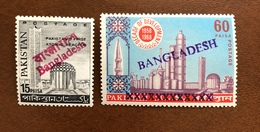 Bangladesh 1972-73 Provisional HS Ovpt Pakistan Atomic Reactor MNH - Bangladesh
