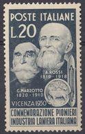 ITALIA - 1950 - Yvert 566 Nuovo MH. - 6. 1946-.. Repubblica