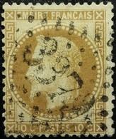 FRANCE Y&T N°28Ac Napoléon 10c Bistre-brun. Oblitéré Losange GC N°3372 Senarpont - 1863-1870 Napoleon III With Laurels