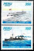 2785  Ships - Bateaux - Peru Yv 750-51 MNH - 1,75 (5) - Bateaux