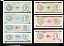 6772  Banknotes - Billets - X7 - Cb - 6,75 - Cuba