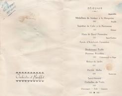 MENU DE MARIAGE A LANDEBIA 12.05.1951 - Menus